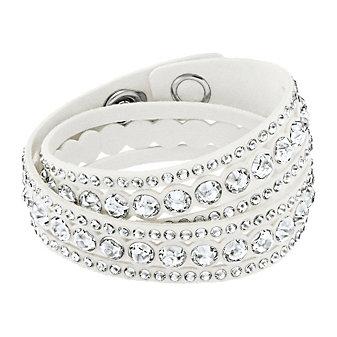 Swarovski Slake White Dot Bracelet, Medium