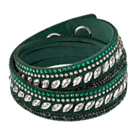 Swarovski_Slake_Green_Pulse_Bracelet,_Medium