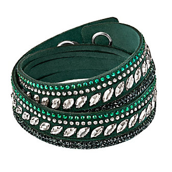 Swarovski Slake Green Pulse Bracelet, Medium
