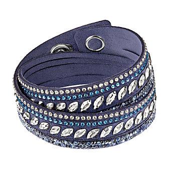 Swarovski Slake Rock Blue Pulse Bracelet, Medium