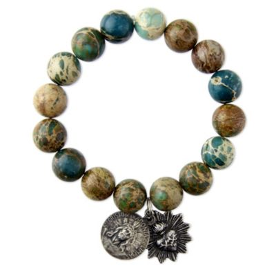 Miracle Icons Natural Jasper Impression Bracelet