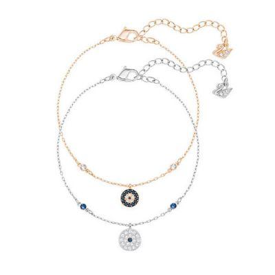 Swarovski Crystal Wishes Evil Eye Bracelet Set