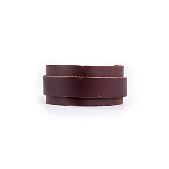 RUSTICO BUCKLE LEATHER WRISTBAND - DARK BROWN
