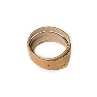 RUSTICO SPLIT LEATHER WRISTBAND - BUCKSKIN