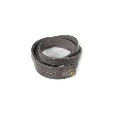 RUSTICO SPLIT LEATHER WRISTBAND - CHARCOAL
