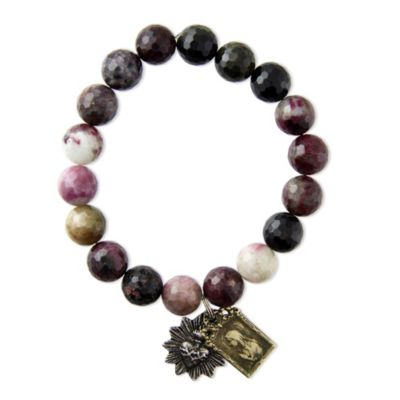Miracle Icons Faceted Natural Tourmaline Bracelet