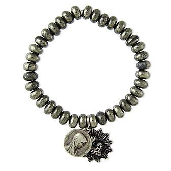 Miracle Icons Pyrite Rondelle Bracelet
