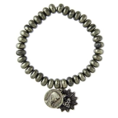 Miracle Icons Pyrite Rondelle Bracelet