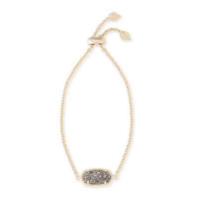 Kendra Scott Elaina Gold Platinum Drusy Bracelet