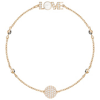 swarovski remix emotion rose tone love station bracelet