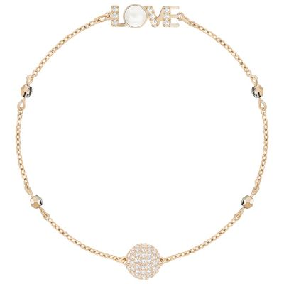 swarovski remix emotion rose tone love station bracelet