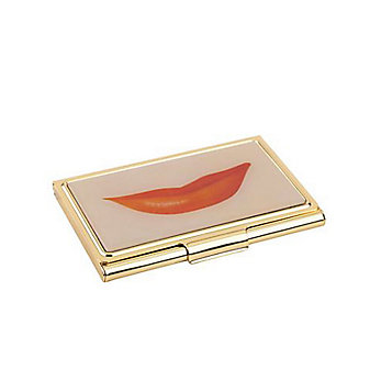 Kate Spade Snap Happy Lips Business Card Holder