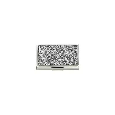 Kate Spade Simply Sparkling Business Card Holder, Silver