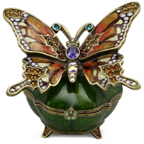 "Jay_Strongwater_Olivine_Butterfly_Box,_2.5""_tall,_2""_deep"