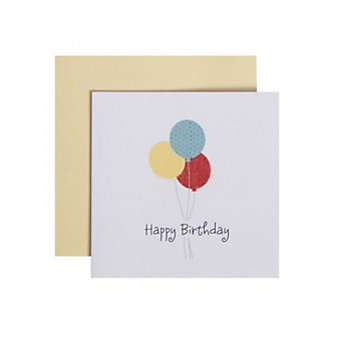 C.R. GIBSON HAPPY BIRTHDAY BALLOONS ENCLOSURE CARD