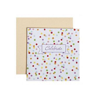 C.R. GIBSON CELEBRATE CONFETTI ENCLOSURE CARD