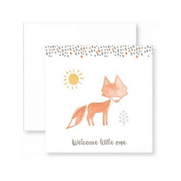 C.R._GIBSON_WELCOME_LITTLE_ONE_FOX_ENCLOSURE_CARD