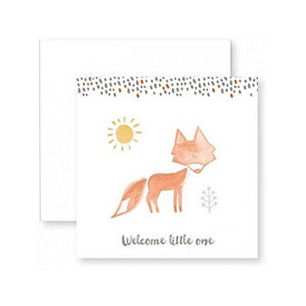 C.R. GIBSON WELCOME LITTLE ONE FOX ENCLOSURE CARD