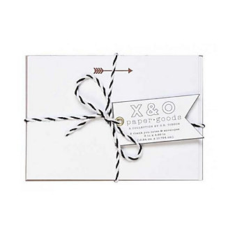 C.R. GIBSON DARING & DAPPER BAKER'S TWINE THANK YOU NOTES