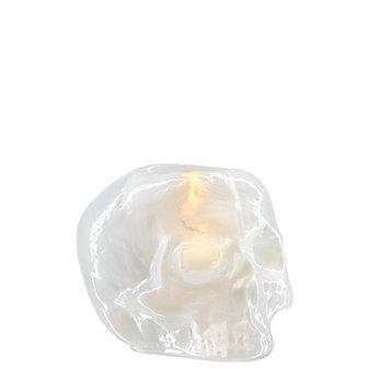 Kosta Boda Skull Votive Pearl