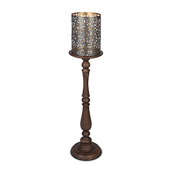 GG Collection Medallion Pillar Candleholders 42""