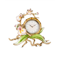 Jay_Strongwater_Tara_Orchid_Clock,_Flora