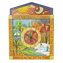 sticks_small_square_changing_seasons_wall_clock