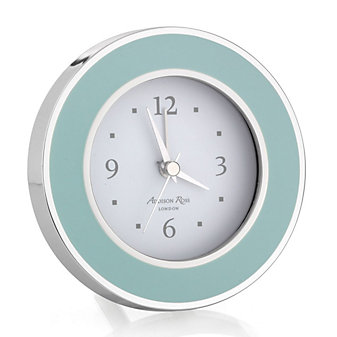 addison ross light blue & silver alarm clock