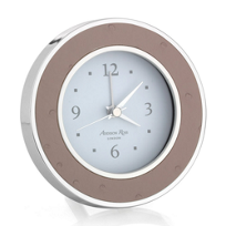 addison_ross_blush_ostrich_silver_alarm_clock