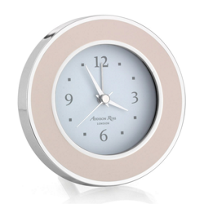 addison_ross_light_pink_&_silver_alarm_clock