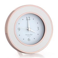 addison_ross_rose_gold_&_white_enamel_alarm_clock