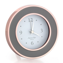 addison_ross_rose_gold_&_grey_enamel_alarm_clock