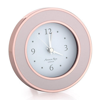 addison ross rose gold & pink enamel alarm clock