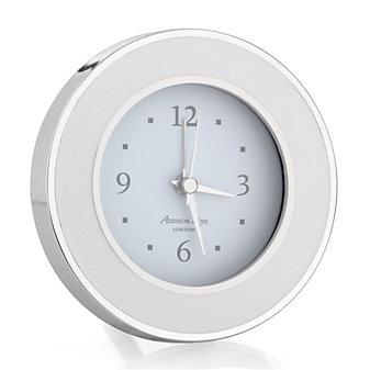addison ross white & silver alarm clock