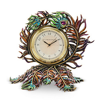 Jay Strongwater Peacock Clock