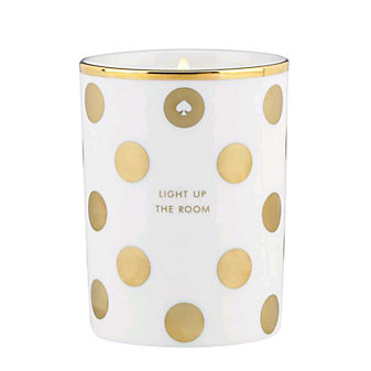 Kate Spade Light Up the Room Fig Scented Candle Gold