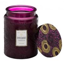 Santiago_Huckleberry_Large_Embossed_Glass_Jar_Candle