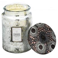 Yashioka_Gardenia_Large_Embossed_Glass_Jar_Candle