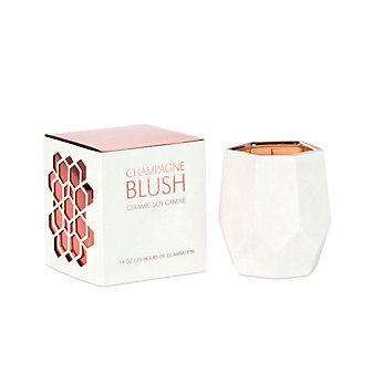 D.L. & Co Large Champagne Blush White Ceramic Candle