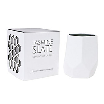 D.L. & Co. Small Jasmine Slate 8 Oz. Ceramic Soy Candle