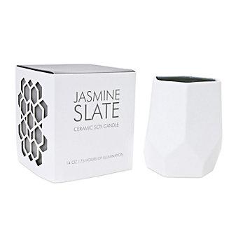 D.L. & Co. Large 14 Oz. Jasmine Slate Ceramic Candle