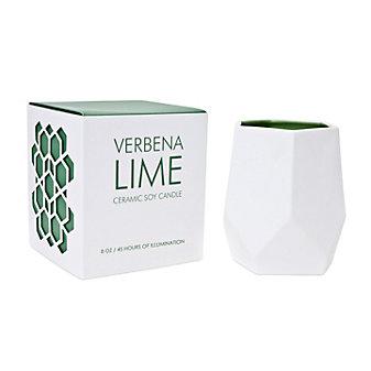D.L. & Co. Verbena Lime 8 Oz. Ceramic Candle
