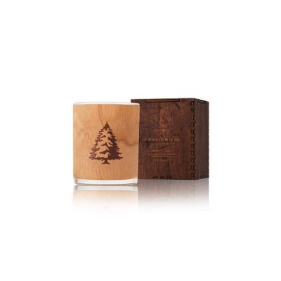 thymes frasier fir northwoods wooden wick candle, 9.5oz.