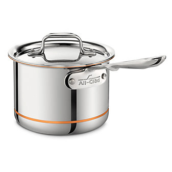 All-Clad Copper Core Sauce Pan with Lid, 2qt