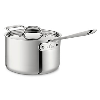 All-Clad Stainless Sauce Pan with Loop Handle with Lid, 4qt