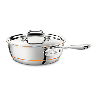 All-Clad Copper Core Saucier with Lid, 2qt
