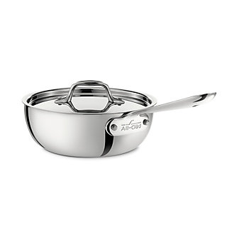 All-Clad Stainless Saucier with Lid, 2qt