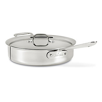 All-Clad Stainless Saute Pan with Lid, 4qt