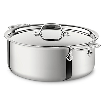 All-Clad Stainless Stockpot with Lid, 6qt