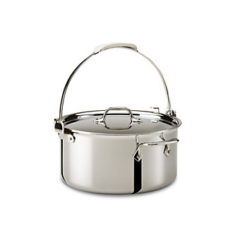 All-Clad Stainless Pouring Pot with Lid, 8qt